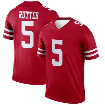 Youth Nike San Francisco 49ers Broc Rutter Scarlet Jersey - Legend