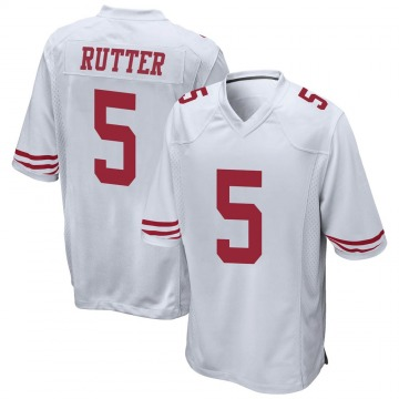 Youth Nike San Francisco 49ers Broc Rutter White Jersey - Game