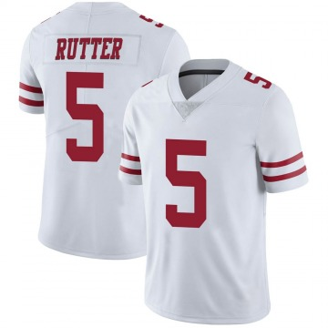 Youth Nike San Francisco 49ers Broc Rutter White Vapor Untouchable Jersey - Limited