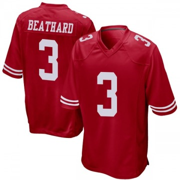 Youth Nike San Francisco 49ers C.J. Beathard Red Team Color Jersey - Game