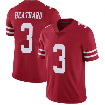 Youth Nike San Francisco 49ers C.J. Beathard Scarlet 100th Vapor Jersey - Limited