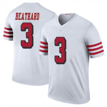 Youth Nike San Francisco 49ers C.J. Beathard White Color Rush Jersey - Legend