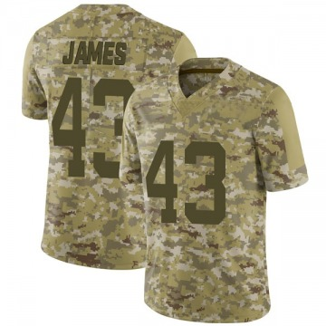 Youth Nike San Francisco 49ers Chanceller James Camo 2018 Salute to Service Jersey - Limited