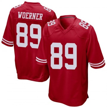 Youth Nike San Francisco 49ers Charlie Woerner Red Team Color Jersey - Game
