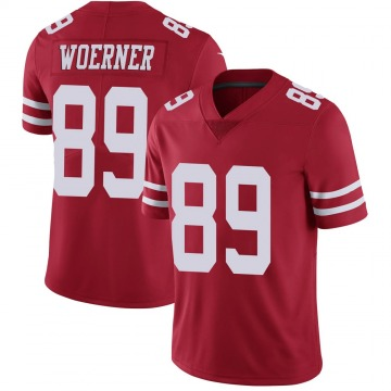 Youth Nike San Francisco 49ers Charlie Woerner Scarlet 100th Vapor Jersey - Limited