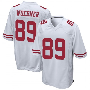 Youth Nike San Francisco 49ers Charlie Woerner White Jersey - Game