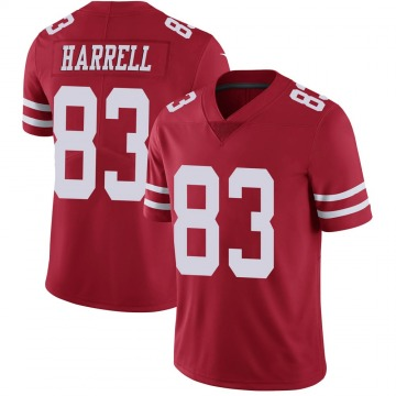 Youth Nike San Francisco 49ers Chase Harrell Scarlet 100th Vapor Jersey - Limited