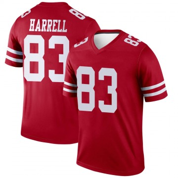Youth Nike San Francisco 49ers Chase Harrell Scarlet Jersey - Legend