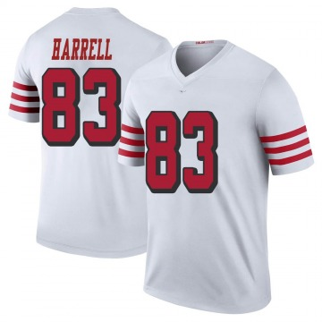 Youth Nike San Francisco 49ers Chase Harrell White Color Rush Jersey - Legend
