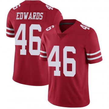Youth Nike San Francisco 49ers Chris Edwards Red Team Color Vapor Untouchable Jersey - Limited