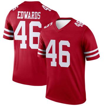 Youth Nike San Francisco 49ers Chris Edwards Scarlet Jersey - Legend