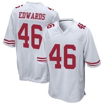 Youth Nike San Francisco 49ers Chris Edwards White Jersey - Game