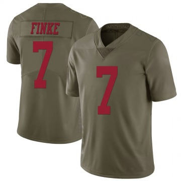 Youth Nike San Francisco 49ers Chris Finke Green 2017 Salute to Service Jersey - Limited
