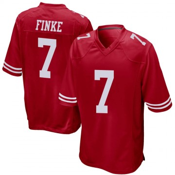 Youth Nike San Francisco 49ers Chris Finke Red Team Color Jersey - Game