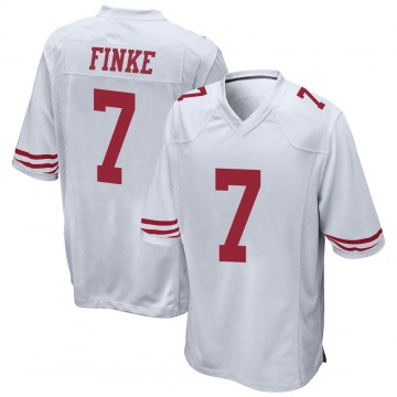 Youth Nike San Francisco 49ers Chris Finke White Jersey - Game