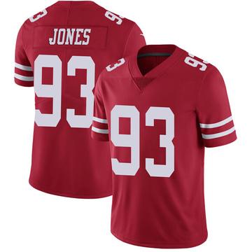 Youth Nike San Francisco 49ers D.J. Jones Red Team Color Vapor Untouchable Jersey - Limited