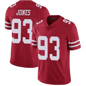 Youth Nike San Francisco 49ers D.J. Jones Scarlet 100th Vapor Jersey - Limited