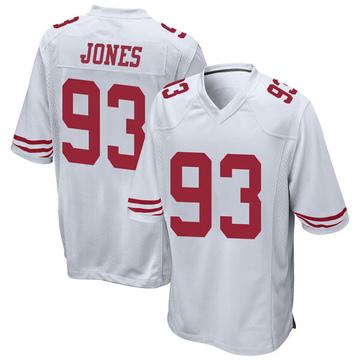 Youth Nike San Francisco 49ers D.J. Jones White Jersey - Game