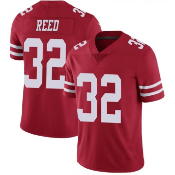 Youth Nike San Francisco 49ers D.J. Reed Scarlet 100th Vapor Jersey - Limited