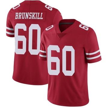 Youth Nike San Francisco 49ers Daniel Brunskill Red Team Color Vapor Untouchable Jersey - Limited