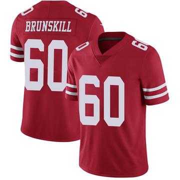 Youth Nike San Francisco 49ers Daniel Brunskill Scarlet 100th Vapor Jersey - Limited