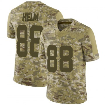 Youth Nike San Francisco 49ers Daniel Helm Camo 2018 Salute to Service Jersey - Limited