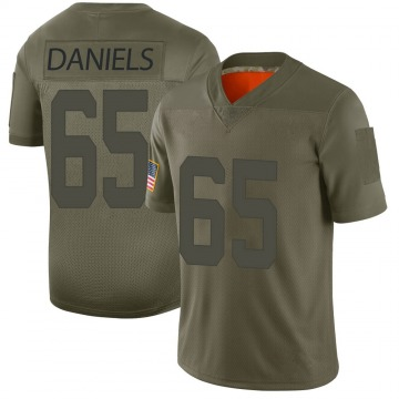 Youth Nike San Francisco 49ers Darrion Daniels Camo 2019 Salute to Service Jersey - Limited