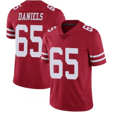 Youth Nike San Francisco 49ers Darrion Daniels Scarlet 100th Vapor Jersey - Limited
