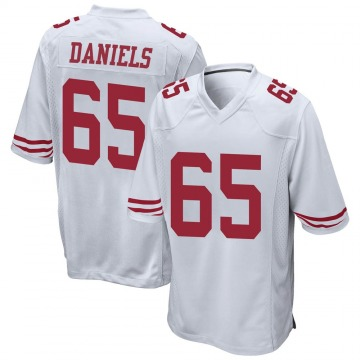 Youth Nike San Francisco 49ers Darrion Daniels White Jersey - Game