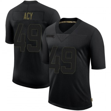 Youth Nike San Francisco 49ers DeMarkus Acy Black 2020 Salute To Service Jersey - Limited