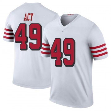 Youth Nike San Francisco 49ers DeMarkus Acy White Color Rush Jersey - Legend