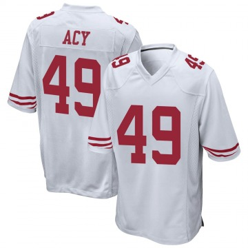 Youth Nike San Francisco 49ers DeMarkus Acy White Jersey - Game