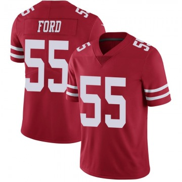 Youth Nike San Francisco 49ers Dee Ford Scarlet 100th Vapor Jersey - Limited