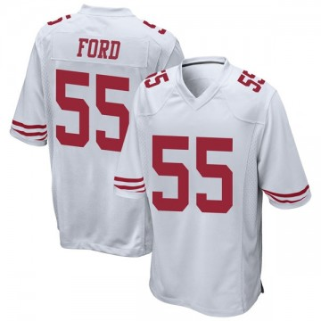 Youth Nike San Francisco 49ers Dee Ford White Jersey - Game