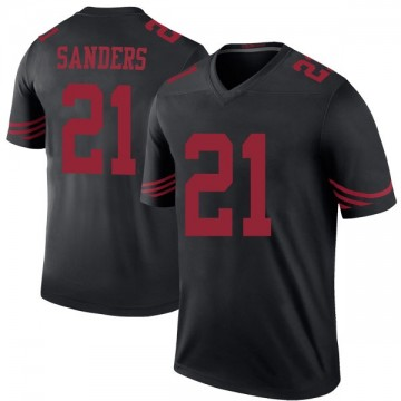 Youth Nike San Francisco 49ers Deion Sanders Black Color Rush Jersey - Legend