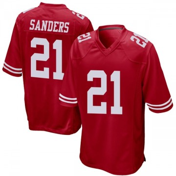 Youth Nike San Francisco 49ers Deion Sanders Red Team Color Jersey - Game