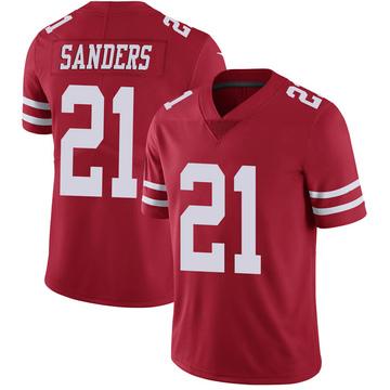 Youth Nike San Francisco 49ers Deion Sanders Scarlet 100th Vapor Jersey - Limited