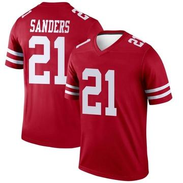 Youth Nike San Francisco 49ers Deion Sanders Scarlet Jersey - Legend