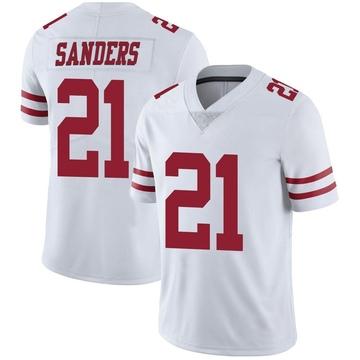 Youth Nike San Francisco 49ers Deion Sanders White Vapor Untouchable Jersey - Limited