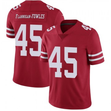 Youth Nike San Francisco 49ers Demetrius Flannigan-Fowles Scarlet 100th Vapor Jersey - Limited