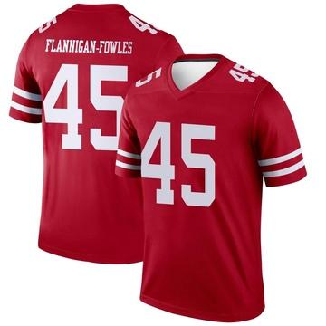 Youth Nike San Francisco 49ers Demetrius Flannigan-Fowles Scarlet Jersey - Legend