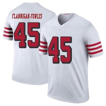 Youth Nike San Francisco 49ers Demetrius Flannigan-Fowles White Color Rush Jersey - Legend