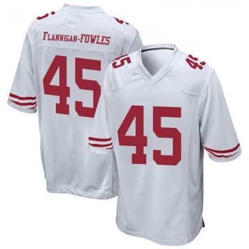 Youth Nike San Francisco 49ers Demetrius Flannigan-Fowles White Jersey - Game