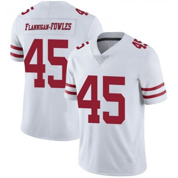 Youth Nike San Francisco 49ers Demetrius Flannigan-Fowles White Vapor Untouchable Jersey - Limited