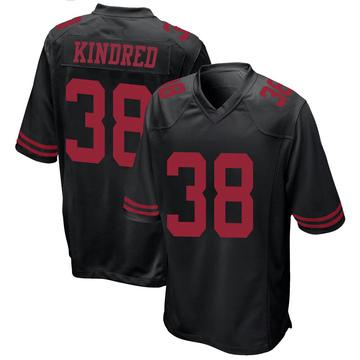 Youth Nike San Francisco 49ers Derrick Kindred Black Alternate Jersey - Game