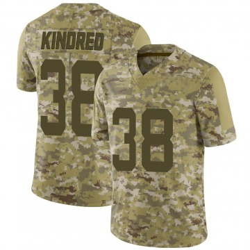 Youth Nike San Francisco 49ers Derrick Kindred Camo 2018 Salute to Service Jersey - Limited