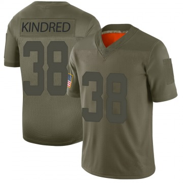 Youth Nike San Francisco 49ers Derrick Kindred Camo 2019 Salute to Service Jersey - Limited