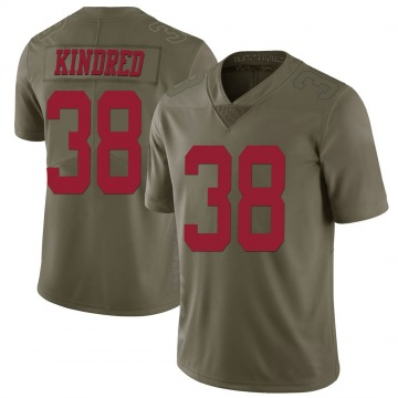 Youth Nike San Francisco 49ers Derrick Kindred Green 2017 Salute to Service Jersey - Limited
