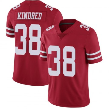 Youth Nike San Francisco 49ers Derrick Kindred Scarlet 100th Vapor Jersey - Limited