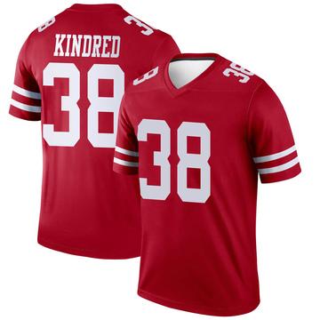 Youth Nike San Francisco 49ers Derrick Kindred Scarlet Jersey - Legend